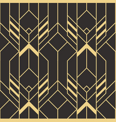 abstract art deco seamless pattern 03 vector image