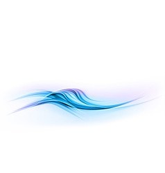 Abstract shape blue wave dis vector