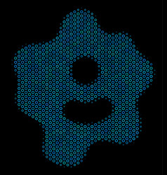 Amoeba collage icon of halftone circles vector