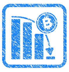 bitcoin epic fail chart framed stamp vector image