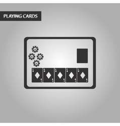 black and white style poker board card vector image