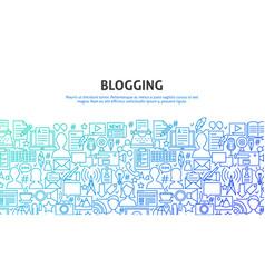 Blogging design concept vector