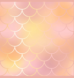 Blush pink and orange fish skin background vector