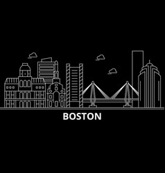 Boston city silhouette skyline usa - boston city vector