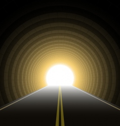 car tunnel vector image