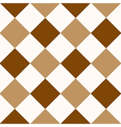 Chocolate coffee brown white diamond chessboard vector