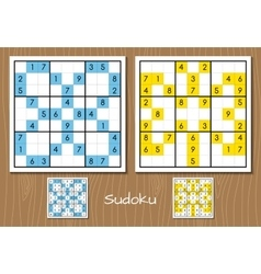 Color sudoku set vector