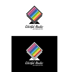 Colorful creative logo template vector image