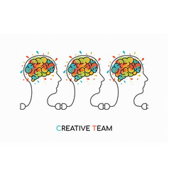 Creative business team work ideas concept art vector