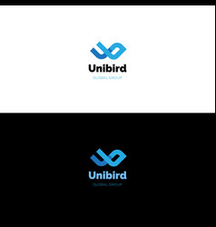 Creative u and b letters logo vector