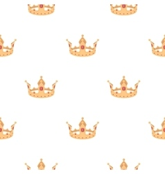 Crown icon in cartoon style isolated on white vector image