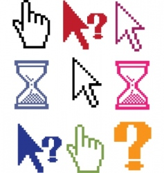 cursor color signs vector image