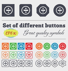 Dividing icon sign Big set of colorful diverse vector