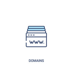 Domains concept 2 colored icon simple line vector
