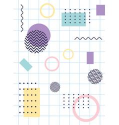 elements composition geometric memphis 80s 90s vector image