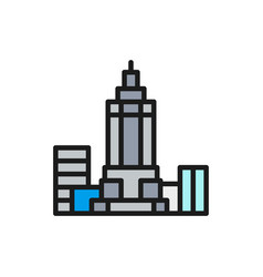 empire state building usa landmark flat vector image