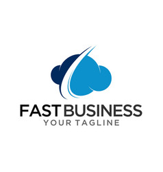 Fast business logo template vector