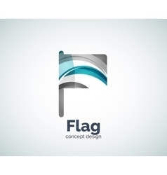 flag logo template vector image