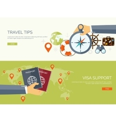 Flat travel background vector image