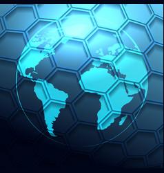 futuristic globe background vector image