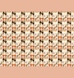 geometric seamless pattern with hypnotic triangles vector image