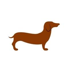 German shepherd icon flat style vector image