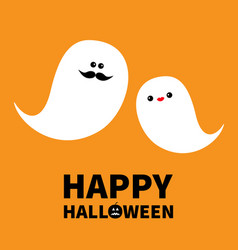 ghost spirit family set with lips mustaches vector image