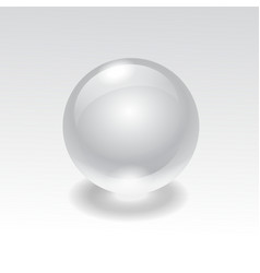 Glass realistic water sphere ball vector