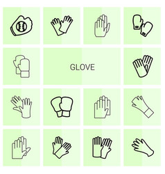 Glove icons vector