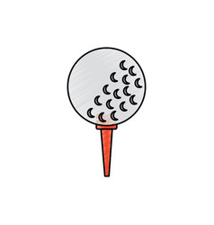 golf balls on the stand equipment vector image