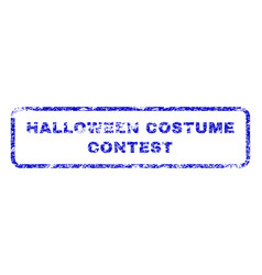 Halloween costume contest rubber stamp vector