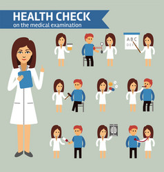 Health check on the medical examination vector