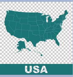 High detailed map - united states usa flat vector