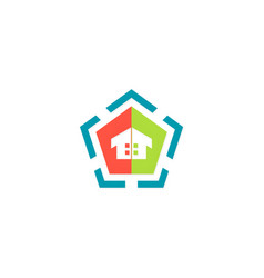 home geometry colored logo vector image