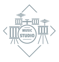 Instrument studio logo simple gray style vector