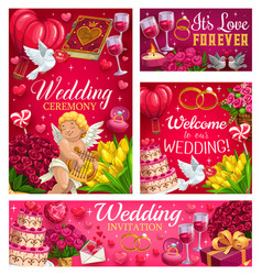 Invitations on save date party wedding day vector