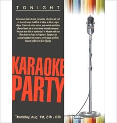 Karaoke background vector