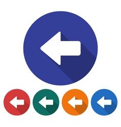 Left direction arrow icon vector