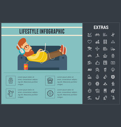lifestyle infographic template elements and icons vector image