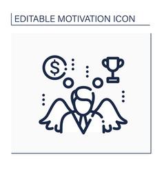 Motivation line icon vector
