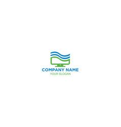 pacific computer service logo design vector image