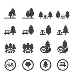 park icon set vector image