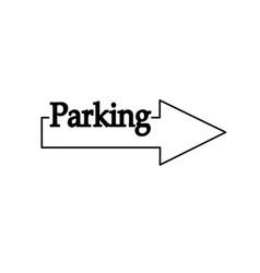 Parking icon arrow pointer line vector