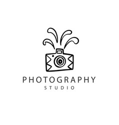 Photography logo badge vector