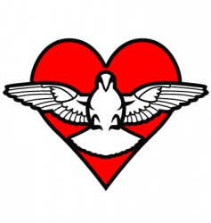 pigeon and heart vector image