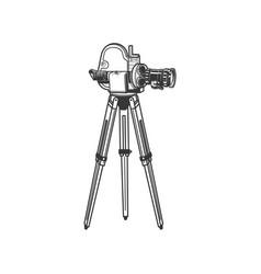 Professional film projector isolated retro camera vector