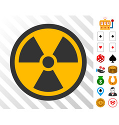 Radioactive icon with bonus vector