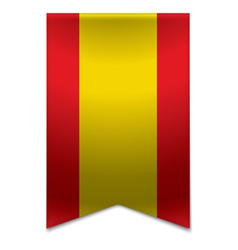 Ribbon banner - spanish flag vector image
