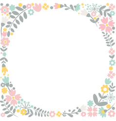 romantic floral hand drawn card vector image