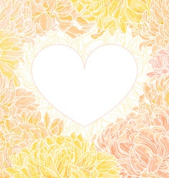 Romantic heart-frame vector
